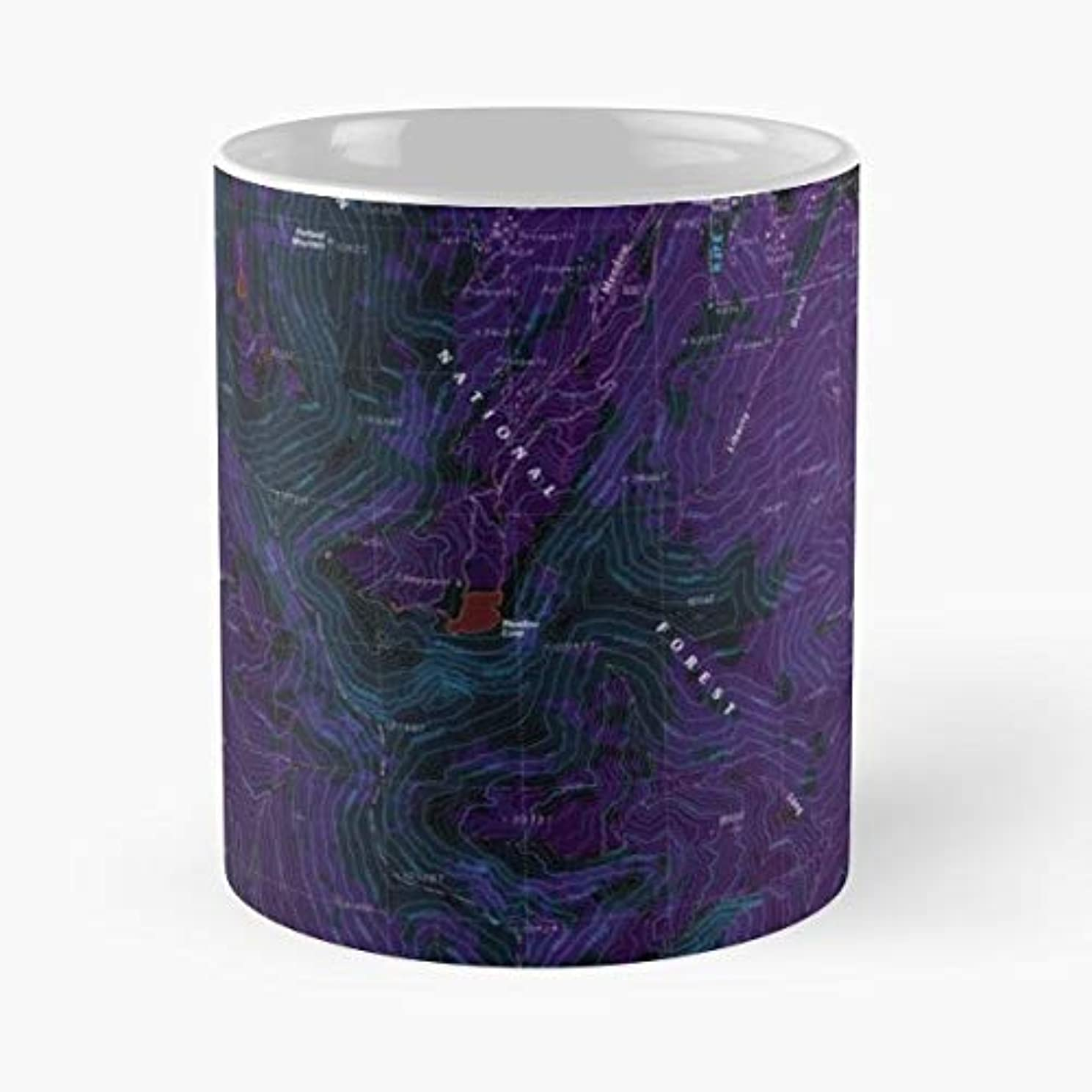 Usgs Topo Map Idaho - Funny Gifts For Men And Women Gift Coffee Mug Tea Cup White 11 Oz The Best Gift Holidays.