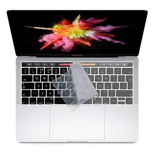"""Mizar4Shop Copritastiera Trasparente per Apple MacBook PRO 13"""" / 15"""" con Touchbar (dal 2016 in Poi, A1989/A1990/A1706/A1707), Layout EU"""