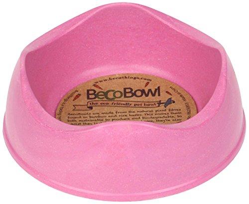 Beco Cosas Cuenco Respetuoso con el Medio Ambiente alimentación pequeños Animales, 4,2, 12x 12x 4,5cm, Color Rosa