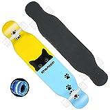 CNSTZX LED Cruiser Skate Longboard Completo Skateboard Vintage de Madera de...
