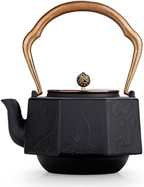 Japon Fonte Kettle Octahedral revêteHommest Oxyde de cuivre Mur Film Sans revêteHommest fer Teapot 1.4L