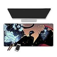 マウスパッド アニメソロレベリングゲーミングマウスパッド拡張大型マウスパッド耐久性のあるステッチエッジ滑らかな表面の厚いゴム製の快適なマウスマット洗えるラップトップキーボードパッドゲーマー 40X90X0.3Cm / 2Xl