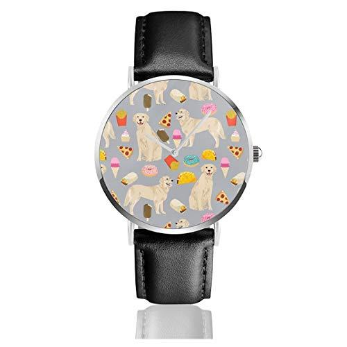 Golden Retrievers - Reloj de Pulsera con Correa de Piel y diseño...