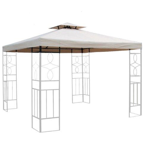 habeig 310g/m² Ersatzdach WASSERDICHT Beige ca. 3x3m Dach Pavillon Pavillion Pavillondach...