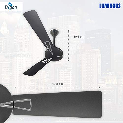 Luminous Deco Premium Trigon 1200mm Ceiling Fan (Magnet Grey)