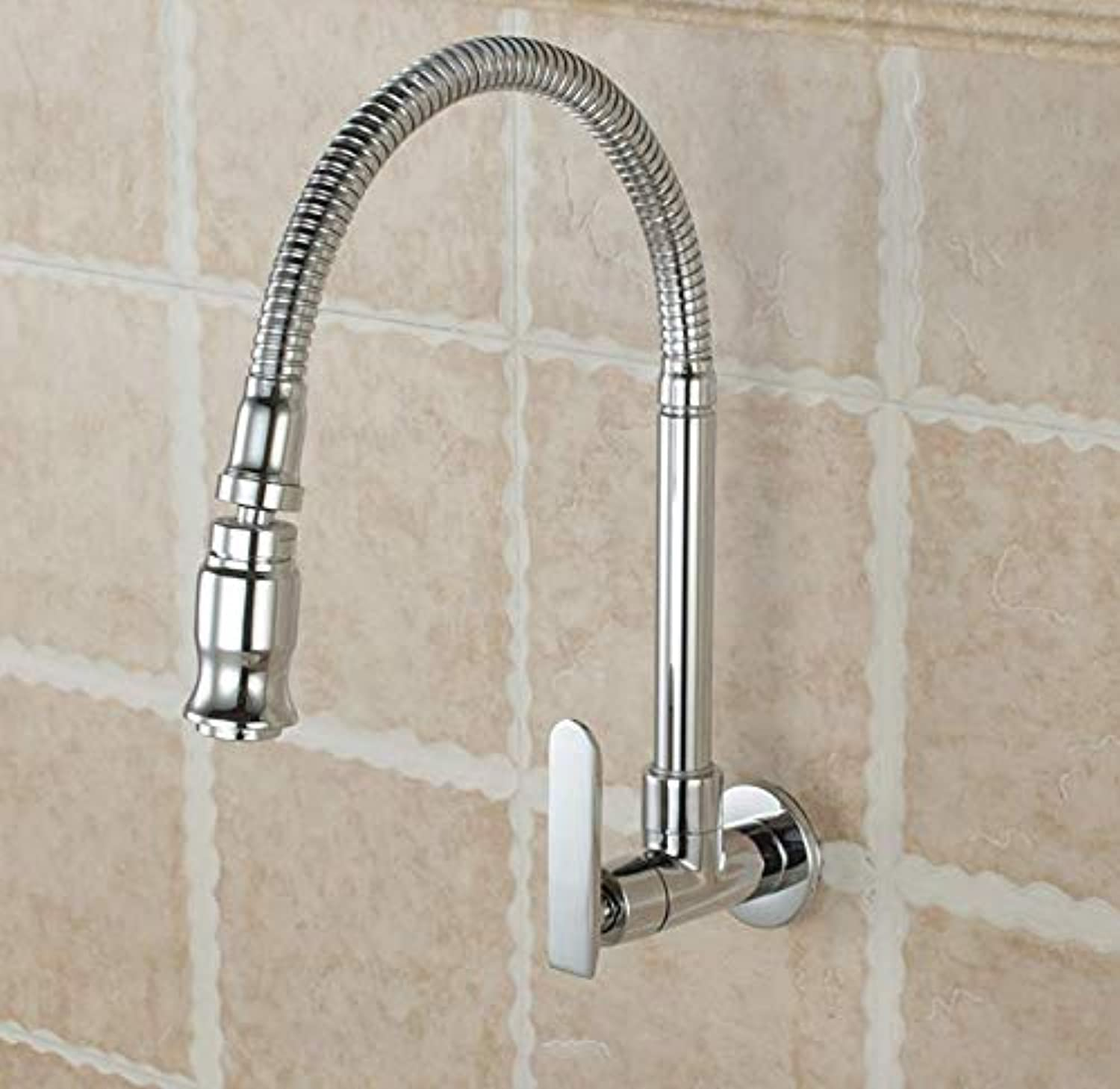 Bathroom Faucet Kitchen Sink Faucet Single Cold Balcony Mop Pool Faucet Universal Tube Laundry Pool Faucet Bendable Copper