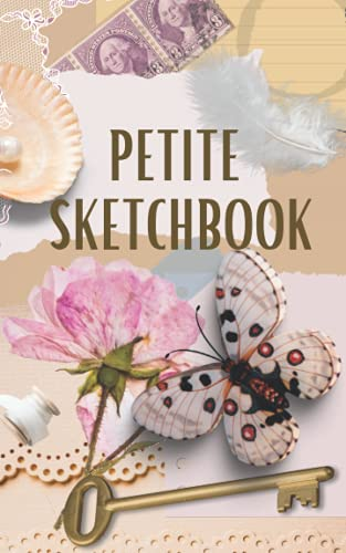 Petite Sketchbook: Vintage Aesthetic Sketch Book | Small Antique Blank Book for Mixed Media