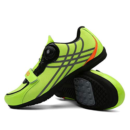 JRYⓇ Cycling Shoes - MTB Cycling Shoes with Quick Lace Compatible SPD Cleats MTB Spin Indoor Cycling Shoes Outdoor Cycle Shoes
