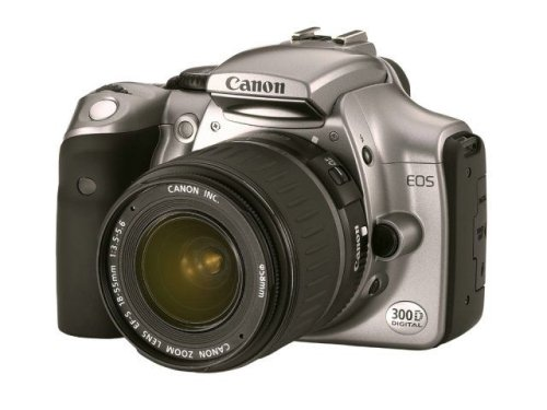 Canon EOS 300D SLR-Digitalkamera (6,3 Megapixel) mit Objektiv EF-S f1:3,5-5,6/18-55 mm