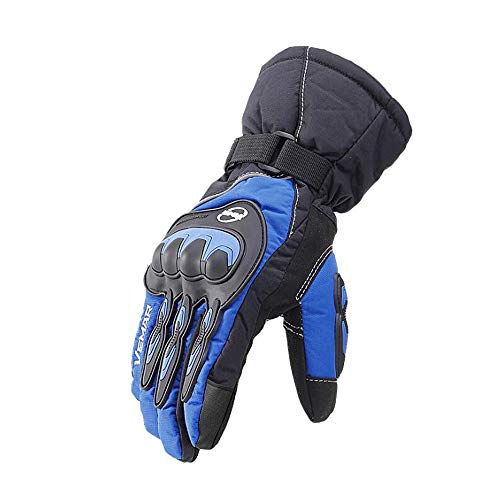 SKLLA Moto Gants Imperméables Écran Tactile Gants D'équitation Voiture Électrique Protection Froid Chaud Gants Anti-Fan,Blue,L