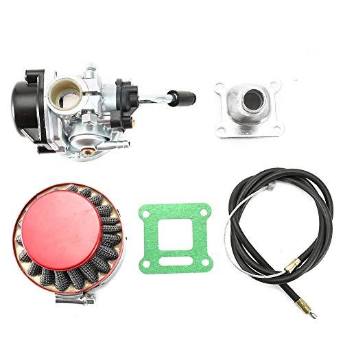 Vergaser , Fydun 2 Takt Motor Vergaser 49cc mit Luftfilter Beschleuniger Kabeleinlass und Dichtung für Motorisierte Mini Fahrrad ATV