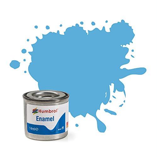 Humbrol, 1 lattina di Vernice a Smalto n. 47, 14 ml, Colore Blu Mare Lucido