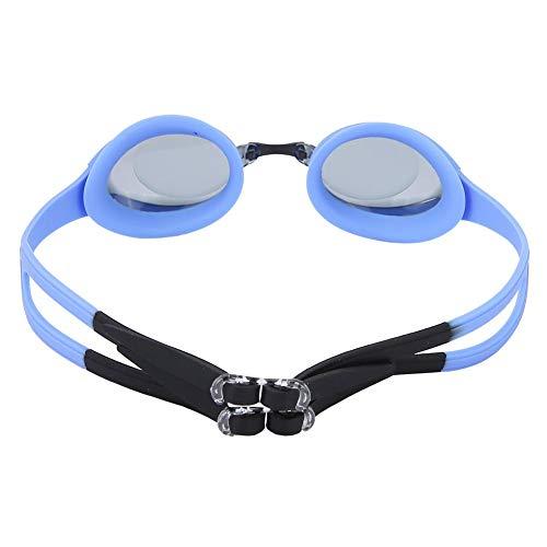 BOLORAMO Gafas de natación para niños, Gafas de natación Impermeables Mejor impermeabilización Gafas de natación polarizadas ecológicas Gafas de natación para Piscina(Negro)