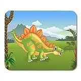 Alfombrillas de ratón bebé animal de dibujos animados cute stegosaurus posando la arqueología prehistórica alfombrilla de ratón para portátiles, Alfombrillas de escritorio alfombrillas suministros de