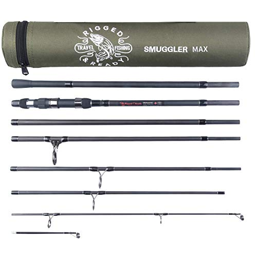 Smuggler Max. Carp Predator Surf Travel Fishing Rod & case. Nano Carbon 3.6m & 3.2m Rod Options. 3 & 3.5lb TC. 7 x 59cm Sections + 2 Tips. Case 66cm