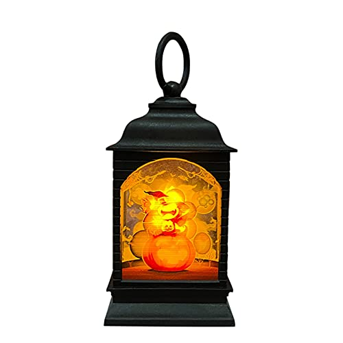 Luces de noche colgantes para decoración de Halloween Vintage linterna lámpara fiesta decoración para interior exterior jardín árbol (D)