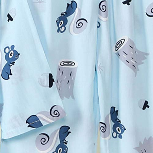 Hopscotch Boys Viscose Art Printed Top and Pyjama Set in Blue Color for Ages 9-10 Years (-3108426)