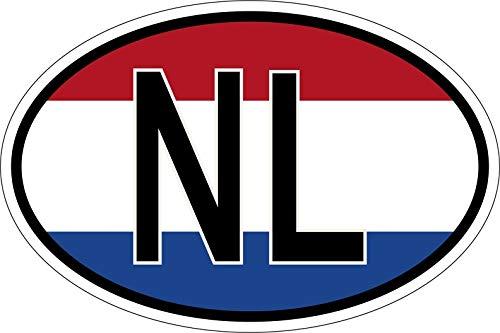 Akachafactory Sticker Aufkleber Nationalitätenkennzeichen Flagge Fahne NL niederlande