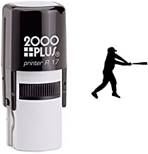 StampExpression - Baseball Player Self Inking Rubber Stamp - Black Ink (A-6461)