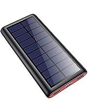 SWEYE Powerbank op zonne-energie, 26800 mAh, oplader op zonne-energie, 2020 nieuwste oplader op zonne-energie, externe accu, draagbare accupack, oplader met 2 uitgangen, powerbank voor mobiele telefoon, tablet, smartphone, camping, wandelen