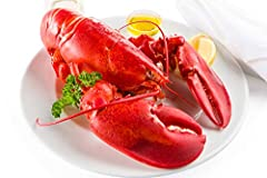 2 Live 2lb Maine Lobster Wild Caught, Antibiotic-Free Free Overnight Shipping Monday-Thursday Weight Range: 2.0 to 2.4 lbs Guaranteed Alive