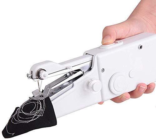 Draagbare lichtgewicht naaimachine voor huishoudelijk gebruik Mini-naaimachine voor thuisgebruik Draadloos elektrisch gereedschap voor snel onderhoud DIY-gezinsreizen naaien wit