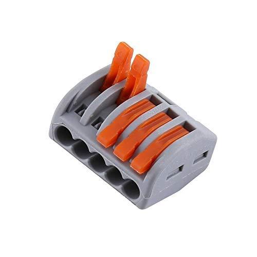 20 Stück 2/3/5-Wege-Federklemmenblock, elektrische Kabelverbinder, Draht, wiederverwendbare Federhebel, Klemmleiste.