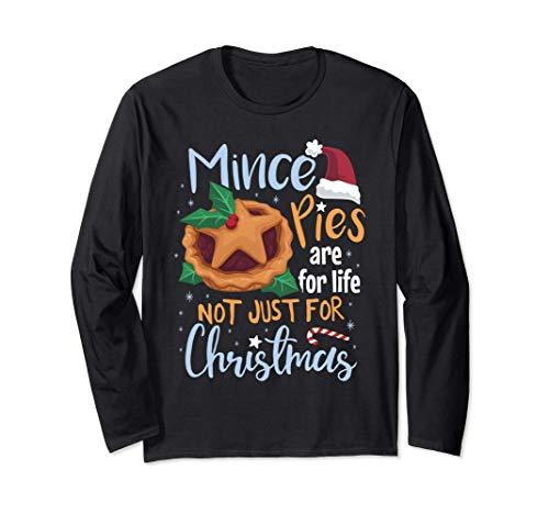 ミンスパイは人生のためにある 面白いクリスマスの休日 長袖Tシャツ
