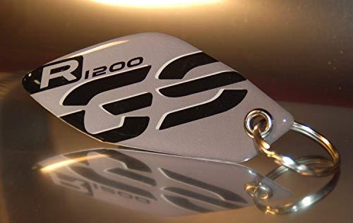 Portachiavi resinato compatibile con moto Bmw Gs R 1200 Grigio