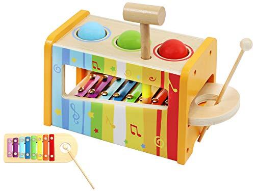 ISO TRADE - Gioco Musicale per Bambini con xilofono, Palline e Martello