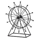 IMIKEYA Noria Figura de Hierro Forjado Figura Modelo de Mesa Arte Escultura Modelo Gabinete Escritorio Decorativo Arte Estatua para Oficina en Casa (Giratorio)