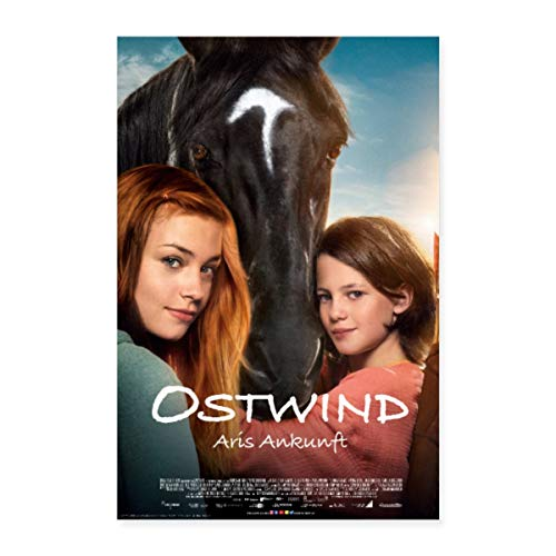 Spreadshirt Ostwind Aris Ankunft Filmplakat Poster 40x60 cm, Weiß