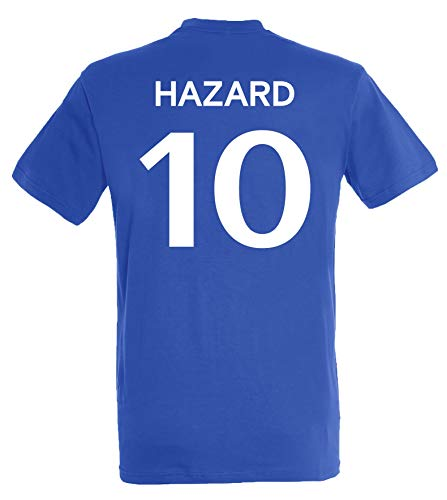 Camiseta Chelsea Eden Hazard – Colección oficial Chelsea FC – Talla para hombre, Niñas, azul, 12 años