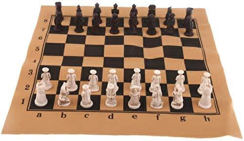 Cfbcc Internationales Schach Chinesischer antiker Soldat Figuren Schach-Set-Brettes mit Schach-Stücken for Reisen Brettspiel