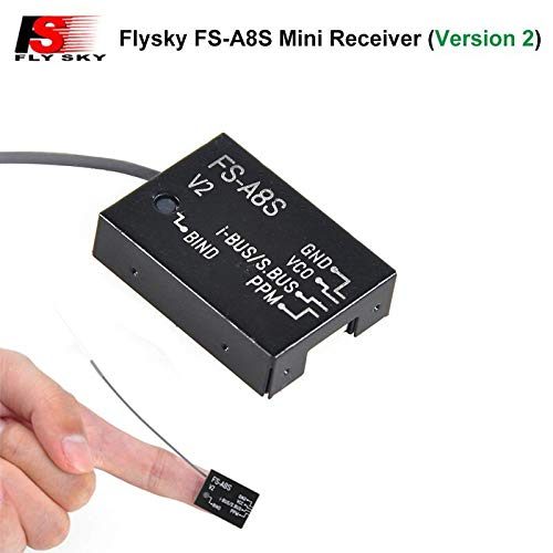 LiteBee Flysky FS-A8S Empfänger 2.4G 8CH Mini Receiver mit PPM iBUS SBUS Ausgang für FS i4 i6 i6S i6X TM10 TM8 Sender for FPV Racing RC Drone Quadcopter for FPV Racing RC Drone Quadcopter by