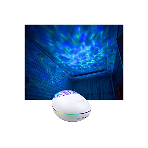 Bluetooth Ocean Wave Projector Lamp with 7 Color Mode, 8 Built-in Music and Timer, Remote Control LED Projector Night Lights - Perfect Gift for Baby, Kids and Children