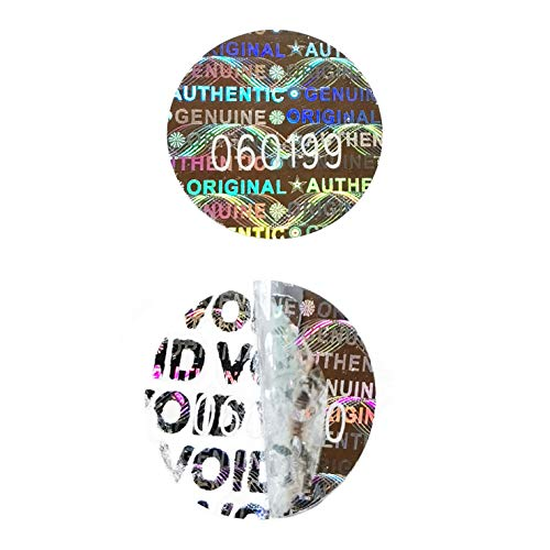 High Security Tamper Evident Warranty Void Original Genuine Authentic Hologram Labels/Stickers w/ Unique Sequential Serial Numbering Tamper Proof Stickers (180)