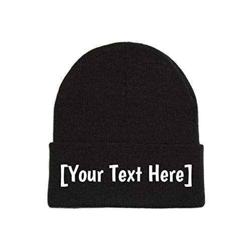 4462246908e Custom Beanie Personalized with Your Own Text Embroidered Gifts Winter Hat  Men Women Warm Knit Cuff