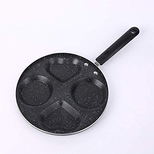 Four-Hole Omelet Pan Maifan Stone Oil-Free Non-Stick Pan Household Multi-Functionele Vlakboren Egg Dumplings ontbijt Pan Mold Fuel-Electric General Keuken Pot Health and Safety / A1 wok