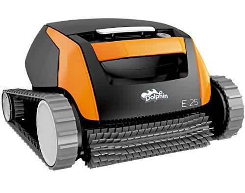 Dolphin E25 Automatischer Schwimmbad-Reinigungsroboter. Handlicher, leichter und einfach zu reinigender Sauger. Ideal für in den Boden eingelassene und auf der Erde aufgestellte Schwimmbecken