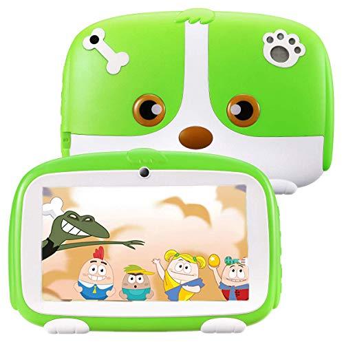 Excelvan Q738 Tablet per Bambini da 7 pollici, Android 9.0 1GB+16GB, A50 Cortex-A7 Quad CoreTablet Educativo, WiFi Doppia Fotocamera, Verde