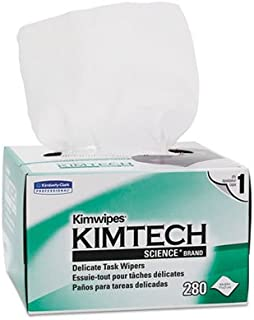 Kimberly-Clark Professional : KIMWIPES Ex-L Delicate Task Wipes, Cloth, 4-1/2 x 8-1/2, 280 per Box -:- Sold as 2 Packs of - 280 - / - Total of 560 Each