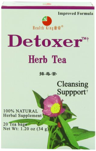 Health King  Detoxer Herb Tea, Teabags, 20-Count Box (Pack of 4)