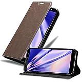Cadorabo Hülle für HTC U12 Life in Kaffee BRAUN - Handyhülle mit Magnetverschluss, Standfunktion & Kartenfach - Hülle Cover Schutzhülle Etui Tasche Book Klapp Style