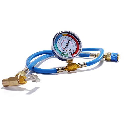 Baugger - Equipo del indicador de la manguera de medición de la recarga del refrigerante del aire acondicionado del coche de la CA R134A