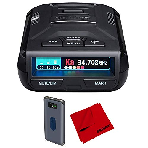 Uniden R3 Extreme Long Range Radar Laser Detector GPS, 360 Degree, DSP, Voice Alert Bundle with Deco Gear Wireless Power Bank and Microfiber Cleaning Cloth