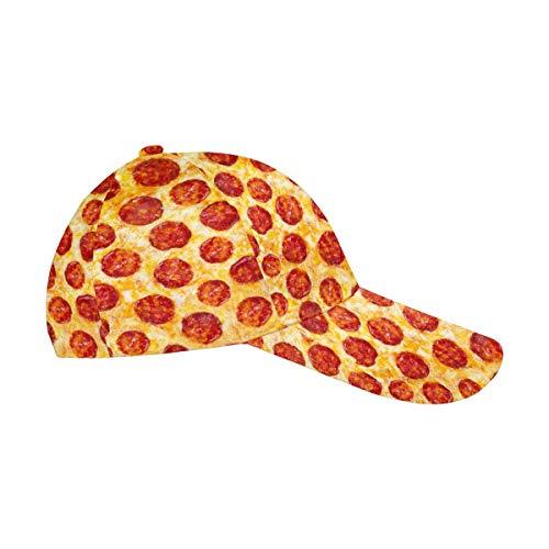 InterestPrint Funny Cheese Pepperoni Pizza Dad Cap Adjustable Men Women Unisex Classic Baseball Hat