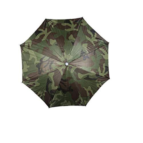 Kacniohen Faltbare Kopf Regenschirm Kopfbedeckung Regenschirm-Hut-bügel Für Camping Fischen Wandern Outdoor Sport Tarnung