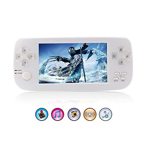 Rongyuxuan Consola Retro Portatil, 4.3 Pulgadas HD Consolas Videojuegos Retro 653 Juegos Handheld Game Console, Regalos de cumpleaños