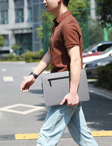 HYZUO 13 Zoll Laptop Sleeve Slim Case Kompatibel mit MacBook Air 13 M1 2018-2020/MacBook Pro 13 M1 2016-2020/Dell XPS 13/Surface Pro X 7 6 5 4 3/iPad Pro 12.9 2018 2020/Samsung Galaxy Book S, Grau